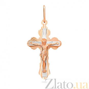 Золотой крестик Благочестие SUF--520403