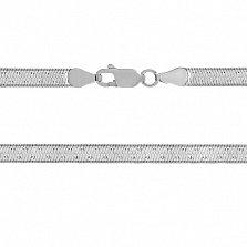 Серебряная цепь Enthusiasm с чернением, 45 см