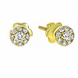 Серьги из желтого золота Джилл с бриллиантами