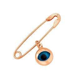 Булавка из красного золота с подвеской-оберегом и алмазной гранью 000106404