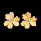 Серьги из желтого золота с бриллиантами Frivole