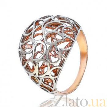 Золотое кольцо с резным орнаментом Загадка Востока EDM--КД0445