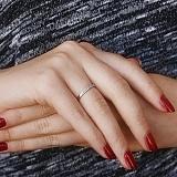Кольцо в красном золоте Анита с бриллиантами
