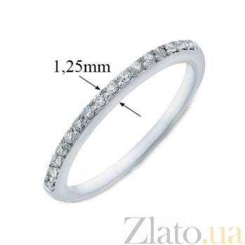 Кольцо в белом золоте Сия с бриллиантами 000019274