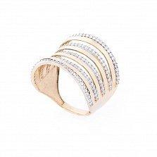 Золотое кольцо Бриана с фианитами