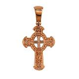 Крестик с белым родированием Божья Благодать