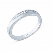 Серебряное кольцо с фианитами Трогательное признание