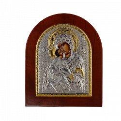 Икона Владимирская Божья Матерь на деревянной основе, 11х13см