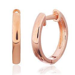 Позолоченные серьги-кольца из серебра 000028989
