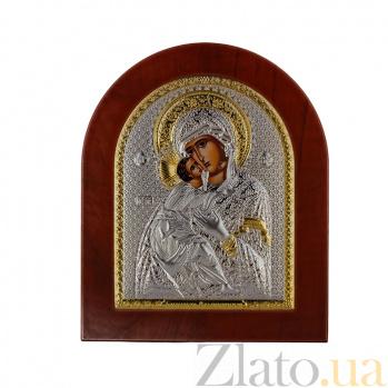 Икона Владимирская Божья Матерь на деревянной основе, 11х13см 000061924