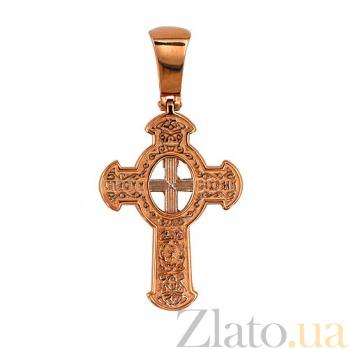 Крестик с белым родированием Божья Благодать VLT--КЛ3007-2
