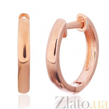 Позолоченные сережки из серебра Абриль SLX--С3/092