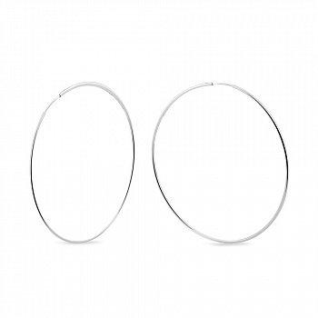 Серебряные серьги- кольца Ø 40 мм 000150561