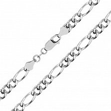 Серебряная цепь Сарагоса, 6 мм