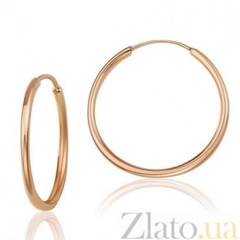 Золотые серьги-кольца Идеал EDM--С002