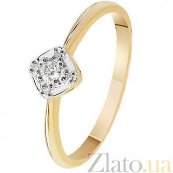 Золотое кольцо с бриллиантами Шанталь KBL--К1965/крас/брил