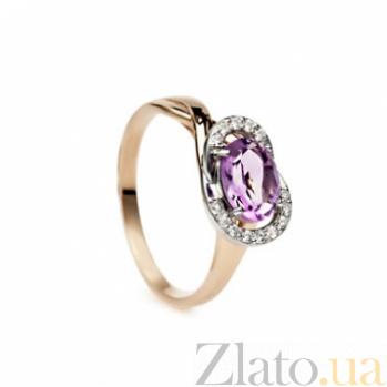 Золотое кольцо с аметистом Таисия 000030614