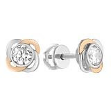 Серебряные пуссеты Мириам с цирконием