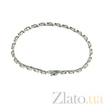Серебряный браслет с сапфирами Stream ZMX--BS-31675-Ag_K