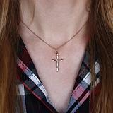 Крест из красного и белого золота Небесный покровитель