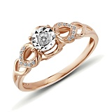 Кольцо Феридэ из золота с бриллиантами