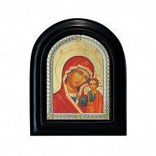Серебряная икона Казанская Божья Матерь с позолотой