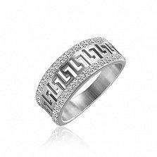 Серебряное кольцо Греческие мотивы с фианитами