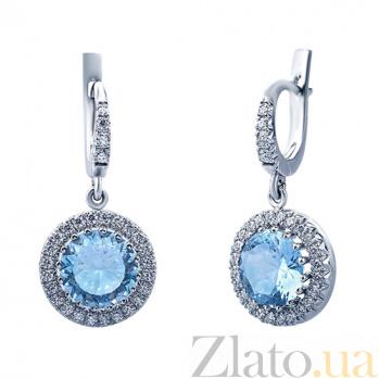 Серьги с бриллиантами и топазами Frederika AQA--с019бT