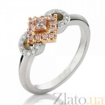 Кольцо Argile из белого и розового золота с бриллиантами и розовыми сапфирами R-cjAr-W/R-13s-14d