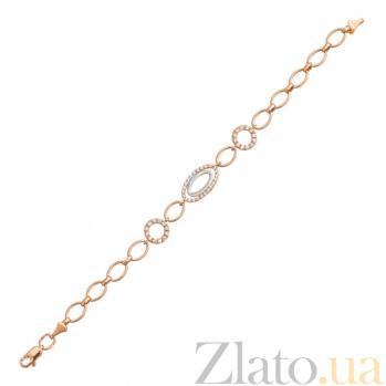 Золотой браслет с цирконием Мари 07498