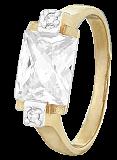 Серебряное кольцо с фианитами Болэйд