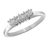 Кольцо из белого золота Жаклин с бриллиантами