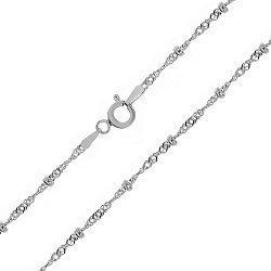 Серебряная цепь Атланта с родированием 000030855