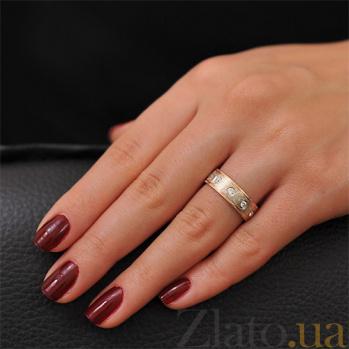 Золотое обручальное кольцо Идиллия с фианитами 000001641