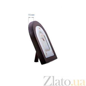 Серебряная икона Божьей Матери Семистрельная в дереве AQA--MA/E2114DX