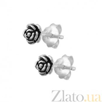 Серебряные серьги-пуссеты Rose SLX--С5/033