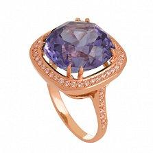 Золотое кольцо Фабьен с александритом и фианитами