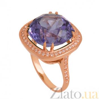 Золотое кольцо Фабьен с александритом и фианитами VLN--112-836-9