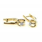 Серьги из желтого золота Идиллия с бриллиантами