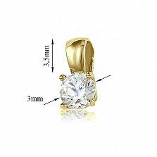 Кулон из желтого золота Элегантность с кристаллом Swarovski