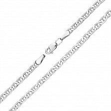 Серебряный браслет Лаям плетения барли, 4мм