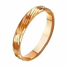 Золотое обручальное кольцо Взаимность