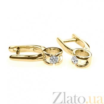 Серьги из желтого золота Идиллия с бриллиантами E 0527/желт