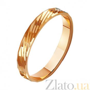 Золотое обручальное кольцо Взаимность TRF--411019