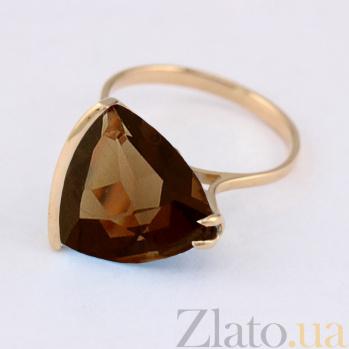 Кольцо из красного золота с раухтопазом Токио VLN--112-1375-2
