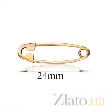 Булавка из красного золота Адель в классическом минималистичном дизайне EDM--БЛ004