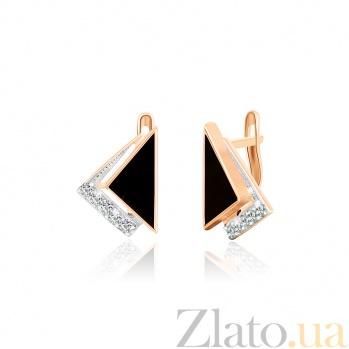 Позолоченные серебряные серьги с фианитами Китнисс SLX--СК3ФО/022