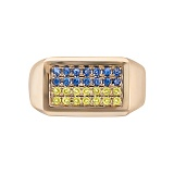 Золотое кольцо с сапфирами Нинель