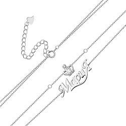 Браслет из серебра с фианитами Мария 000131966