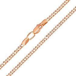 Цепь из красного золота с алмазной гранью 000117295, 3мм